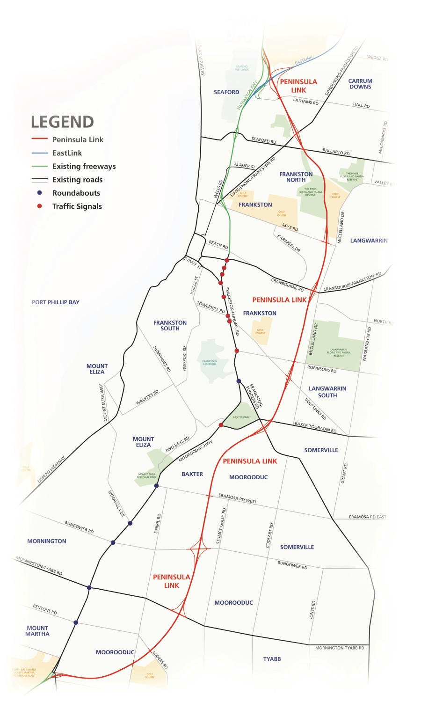 Peninsula Link Map